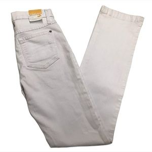 SECOND YOGA High-Rise Straight White Jeans
